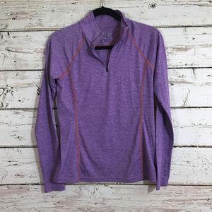 Orvis Purple Long Sleeve Zipper Top